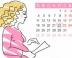 Календарь с датой последней менструации